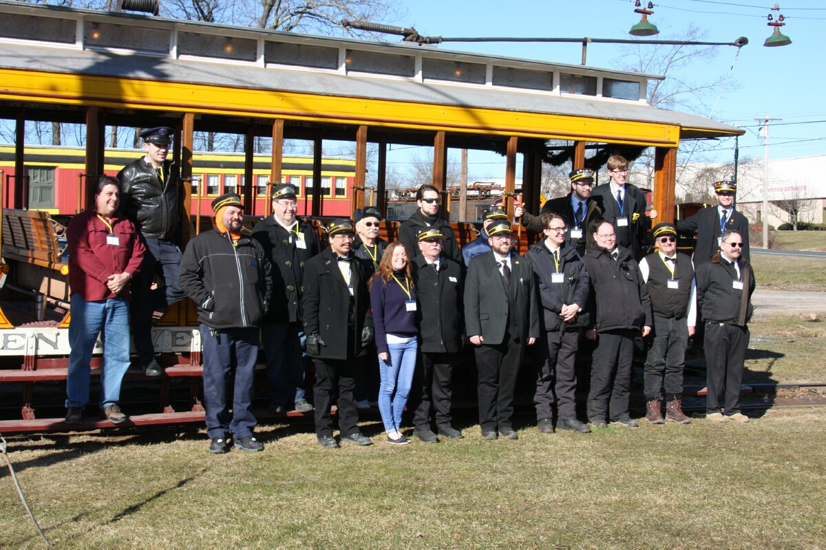 CTM staff and crew with car 355